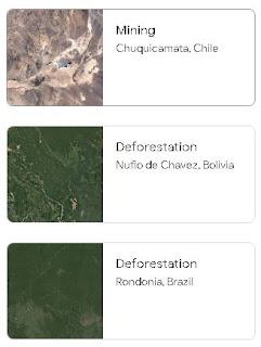 desmatamento Amazônia e seca Mar Aral imagens satélite