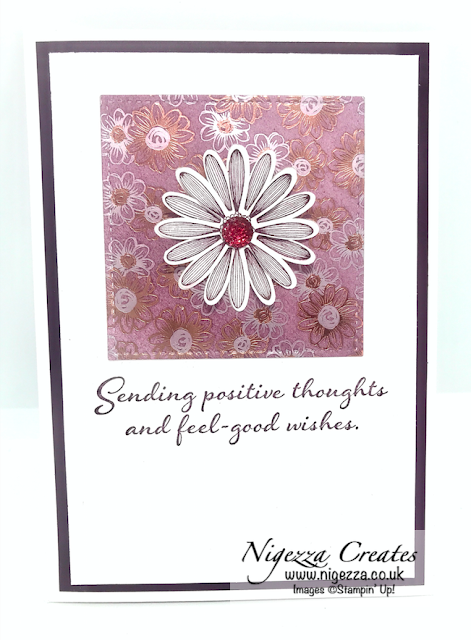 Nigezza Creates with Stampin' Up! & Positive Thoughts & Flowering Foils 2-4-1 Cards