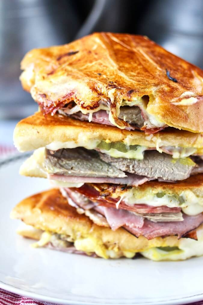 The Cuban Sandwich (The Cubano) stacked