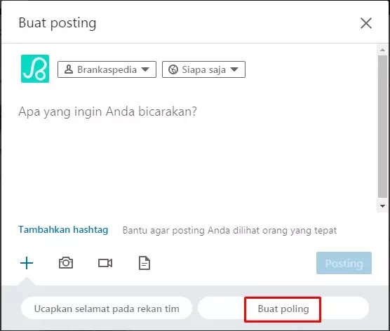 cara membuat polling di LinkedIn-1