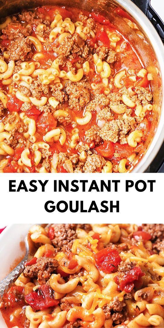 Easy Instant Pot Goulash