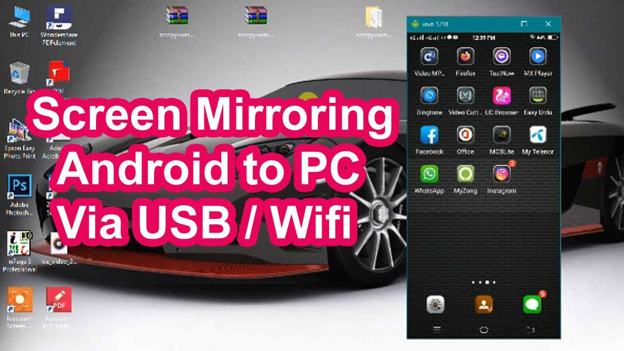 How to Setup Scrcpy-Screen Mirroring Android to PC Via USB / WIFI