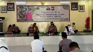 Polres Luwu Utara Gelar Peringatan Isra Miraj Nabi Muhammad Saw 1442 H/2021 M