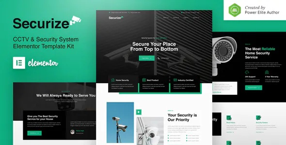 Best CCTV & Security Elementor Template Kit