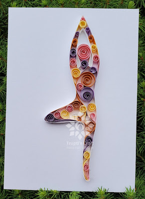 Paper Quilling Tree Yoga Pose