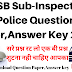 HPSSC SI Question Paper,Answer Key 2018 ! HP Police Sub Inspector Question Paper 2018 !