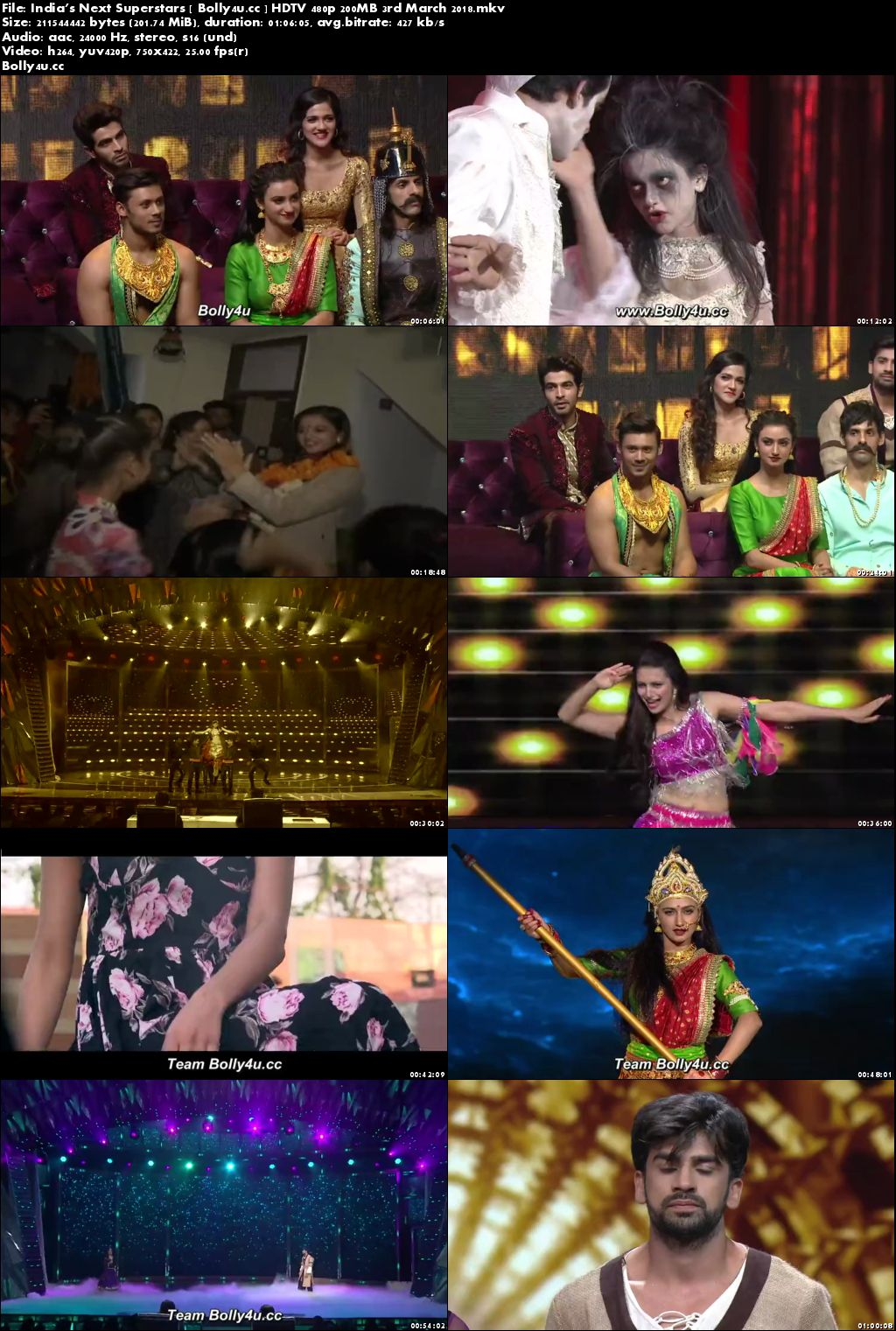 Indias Next Superstars HDTV 480p 200MB 03 March 2018 Download