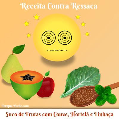 Receita Contra Ressaca: Suco de Frutas com Couve, Hortelã e Linhaça