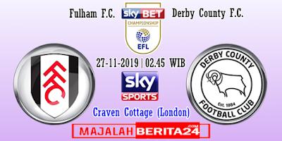 Prediksi Fulham vs Derby County — 27 November 2019