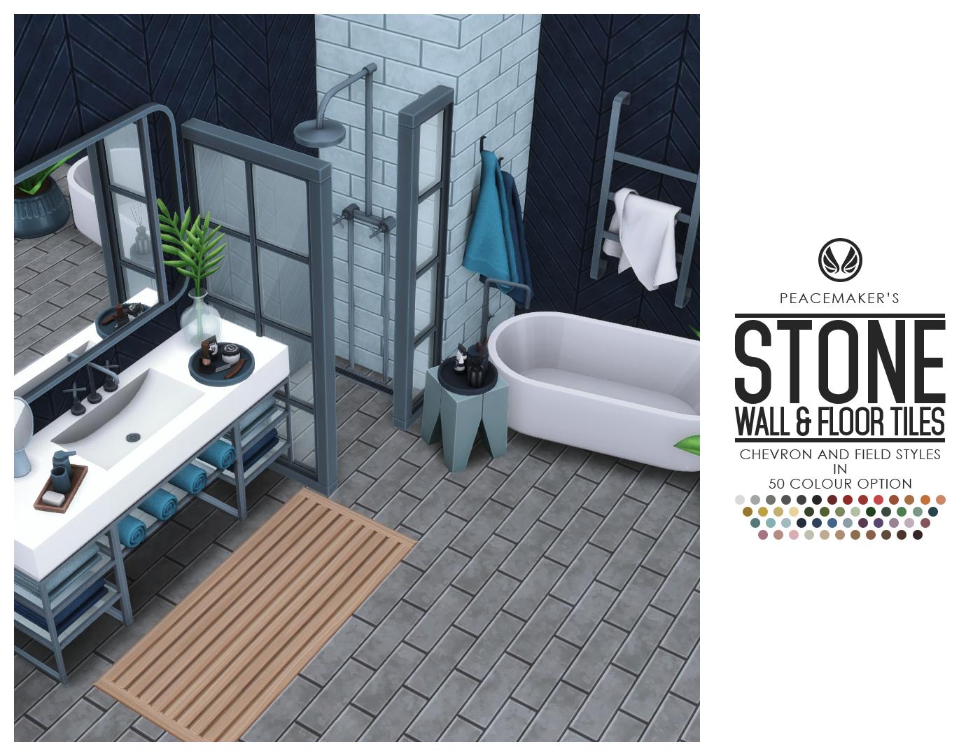 simsational designs stone floor wall