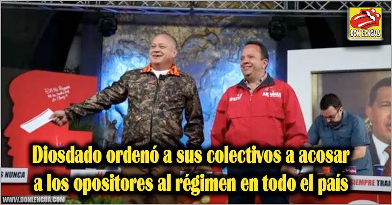 Diosdado ordenó a sus colectivos a acosar a los opositores al régimen en todo el país