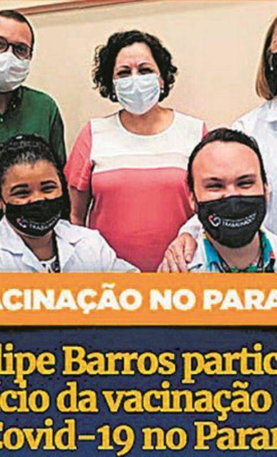 Deputado Filipe Barros era contra a vacina e capitalizou a imunização