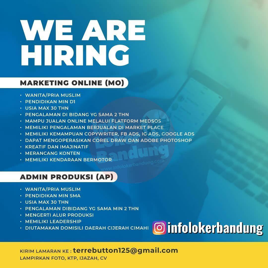 Lowongan Kerja Marketing Online Admin Produksi Bandung September 2019 Info Loker Bandung 2021