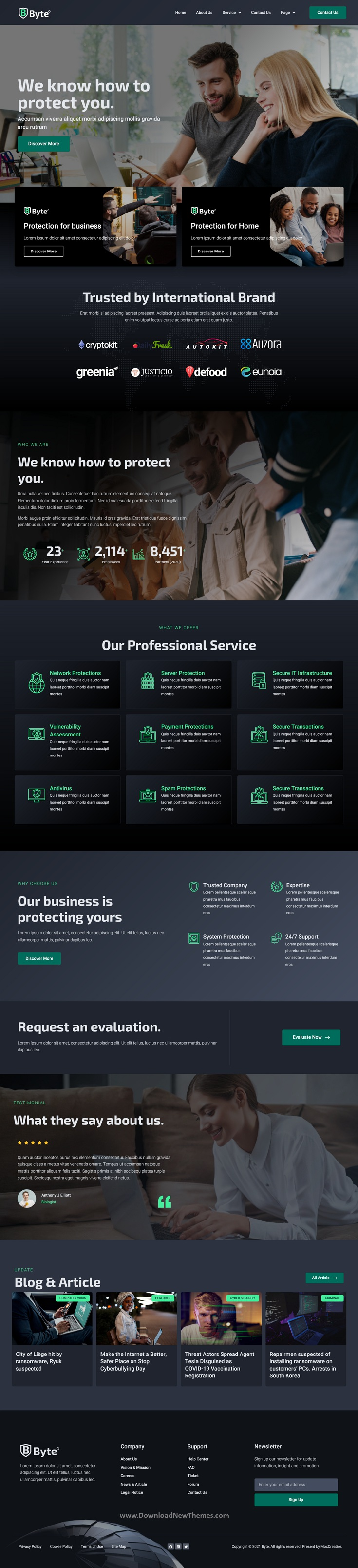Byte - Cyber Security Business Elementor Template Kit