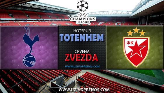 Liga šampiona: Totenhem - Crvena Zvezda uživo prenos