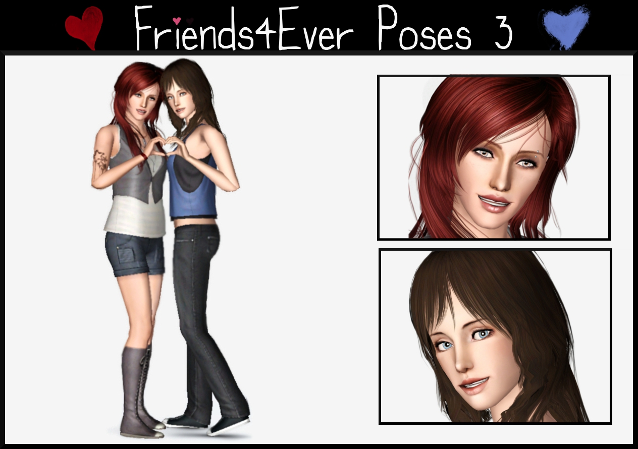 Lili09 Sims: Friends4Ever Poses