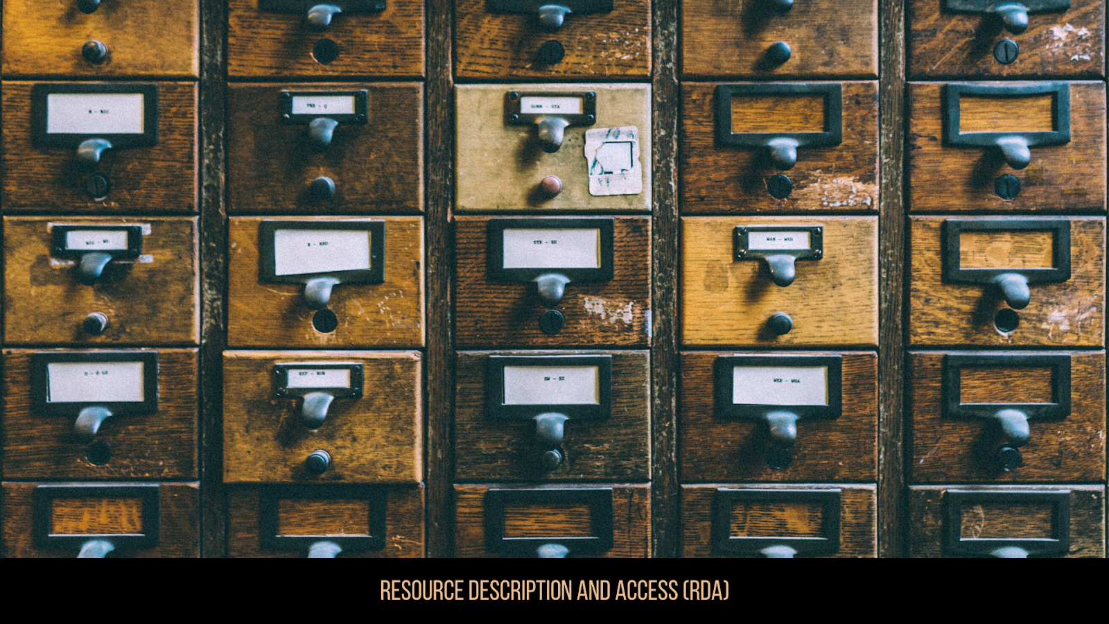 Resource Description and Access (RDA)