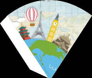 Flying Around the World Party Free Printable Mini Kit.