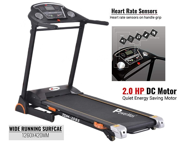 Powermax Fitness TDM-105S 2.0 HP Motorized Treadmill