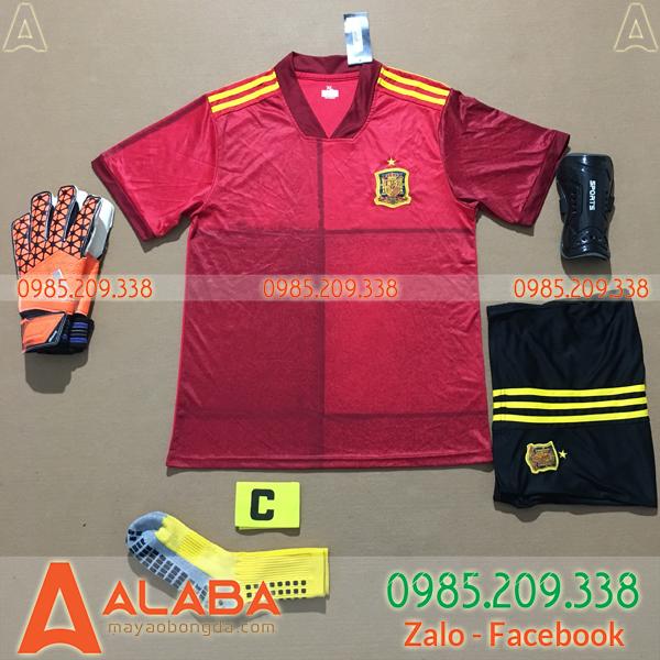 Áo Tây Ban Nha 2020 Sân Nhà Màu Đỏ