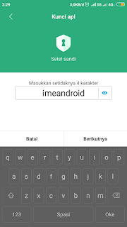 Mengganti password aplikasi hp xiaomi