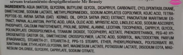 ingredientes serum tratamiento despigmentante Mc Beauty