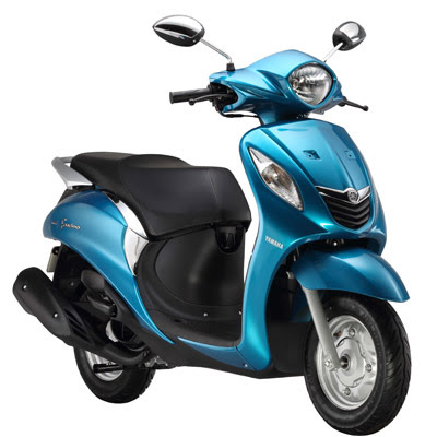 All New Yamaha Fascino Blue colour hd Photos