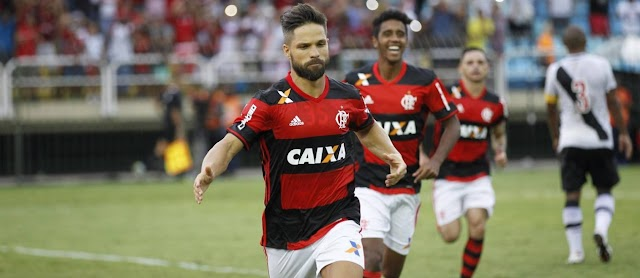 Diego converte pênalti, Flamengo bate Vasco, quebra jejum e vai decidir Taça GB com o Flu.