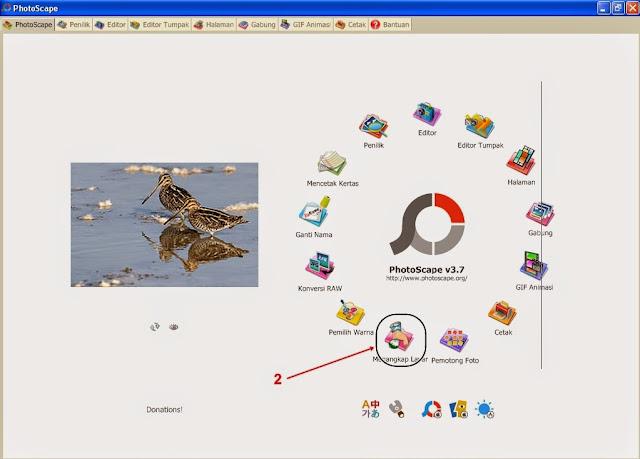 Cara Meng-Capture / Menangkap Gambar Layar Desktop menggunakan Aplikasi Photoscape