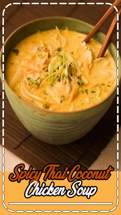 Coconut milk tames the heat and combines deliciously with shredded chicken breast in Spicy Thai Coconut Chicken Soup.