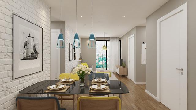 Thiết kế phòng khách căn hộ The Golden An Khánh