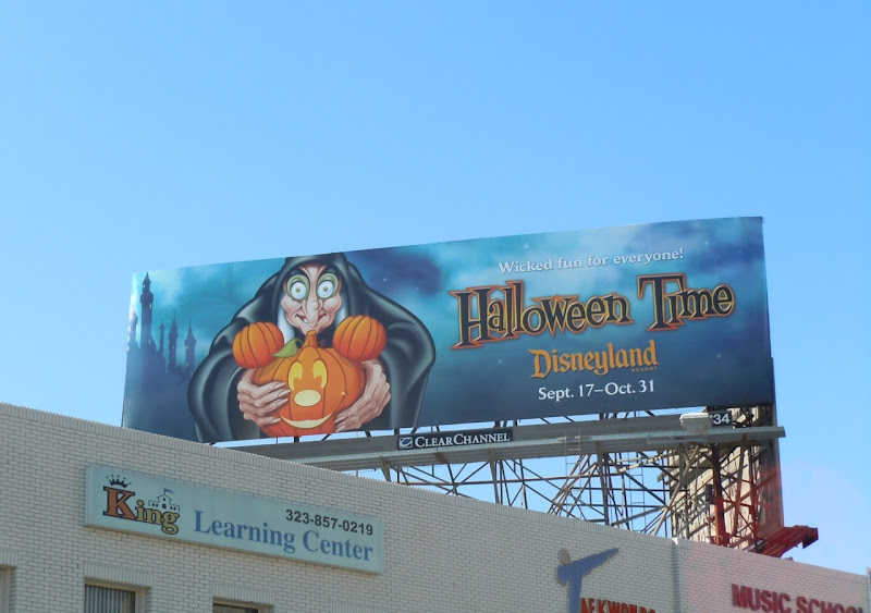 Disneyland Halloween Time Mickey pumpkin billboard