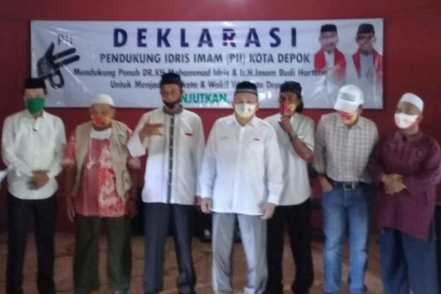 Pembangunan di Depok Dinilai Baik, PII Deklarasi Dukung Idris-Imam
