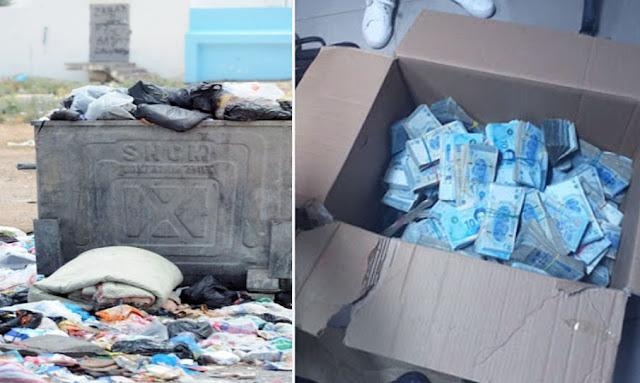 بن قردان : شاب يعثر على 15 ألف دينار داخل كيس قمامة ويسلّمه للأمن