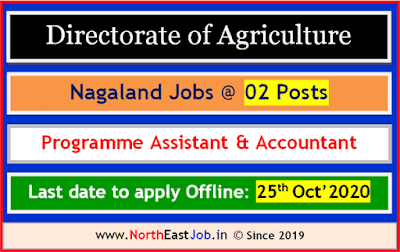 Directorate of Agriculture Nagaland Recruitment 2020