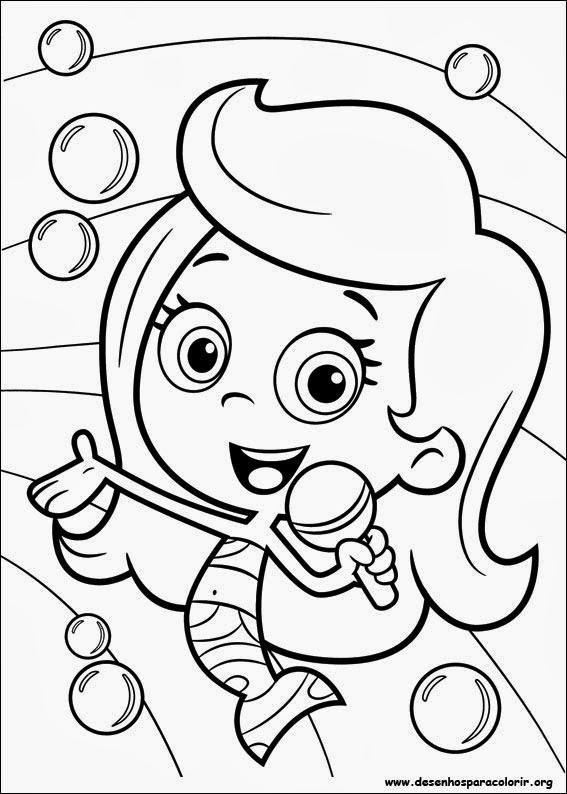 Desenhos dos Bubble Guppies para colorir