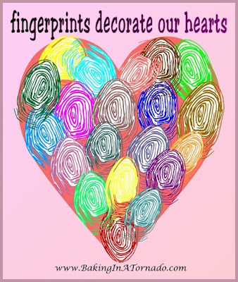 Daddy's Girl: coming to terms with loss | Fingerprints decorate our hearts, a graphic by www.BakingInATornado.com | #loss #grief #MyGraphics