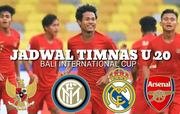 Jadwal TV dan Daftar Pemain U-20 International Cup Bali 2019