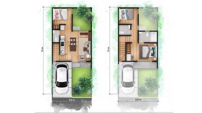 type park villa rumah 2 lantai cendana homes