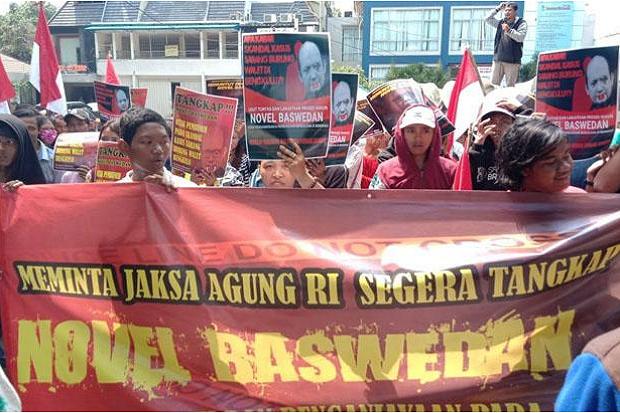 Mahasiswa Demo Tuntut Novel Baswedan Ditangkap