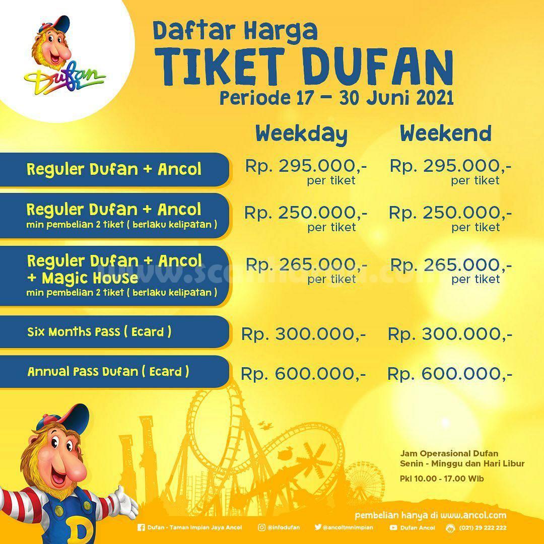 Promo Tiket Masuk Reguler Dufan 17 - 30 JUNI 2021