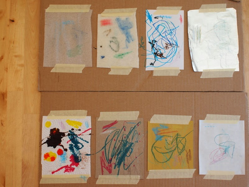 let your child explore different art materials in a scientific manner