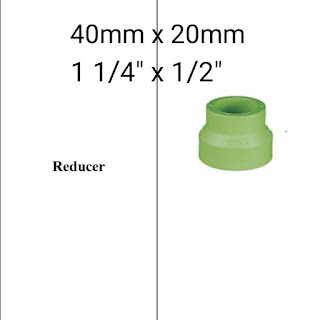 Jual reducer pipa ppr lesso 40mm x 20mm