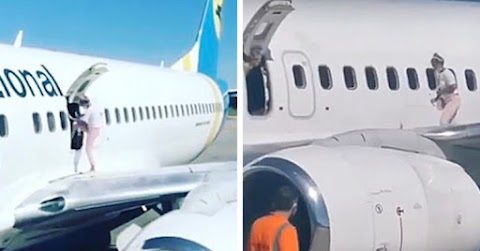 Mother Goes For A Walk On Boeing 737's Wing Because She Was 'Too Hot' While Waiting To Disembark In Ukraine
