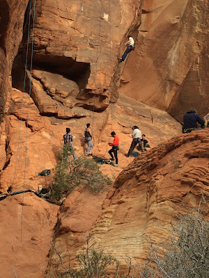 Lead Climbing in Red Rock Canyon