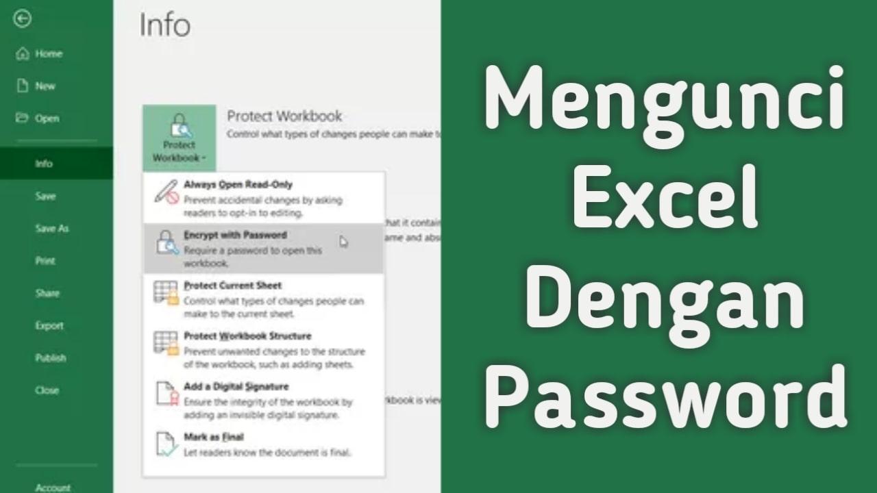 3 Cara Terbaik Mengunci File Excel dengan Password