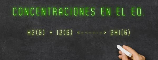 Calcular las CONCENTRACIÓN para cada COMPUESTO en la reacción de formación del HI (ÁCIDO IODHÍDRICO)