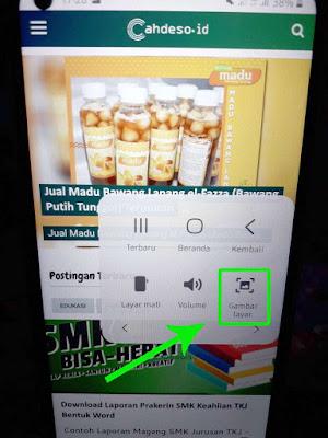 Screenshot Samsung M11 Melalui Menu Asisten
