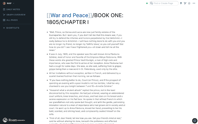 War and Peace Chapter 1