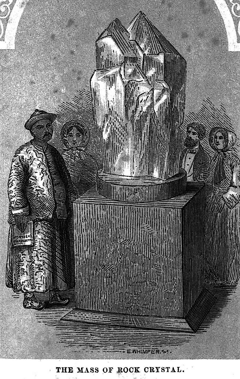 The Mass of Rock Crystal at the 1851 Great Exhibition London